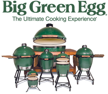 The Big Green Egg grills outdoor cooking